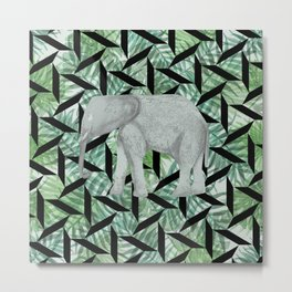 Elephant Jungle Metal Print