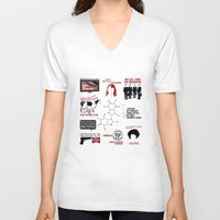 love quotes V-neck T-shirts featuring Fringe Quotes by CLM Design