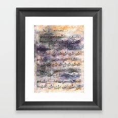 Chopin - Nocturne Framed Art Print