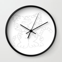 100 Days of School I Survived 100 Days of School Cat Wall Clock