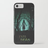 evil dead iPhone & iPod Cases featuring Evil Dead (2013) Movie Poster by desistfilm