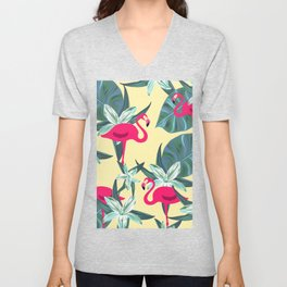 Flamingo V2 #society6 Unisex V-Neck