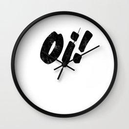 Oi! Skinhead print for Punks & Skins Wall Clock