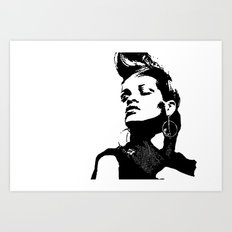 Rihanna. Art Print