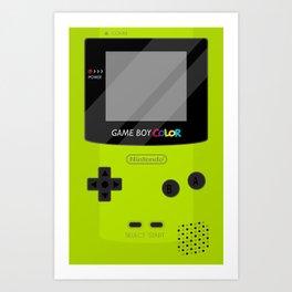 Gameboy Color - Green Art Print