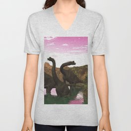 Brachiosaurus Unisex V-Neck