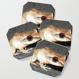 Watercolor Frog 28, Coqui Frog, St John, USVI, Sticky Hands Coaster