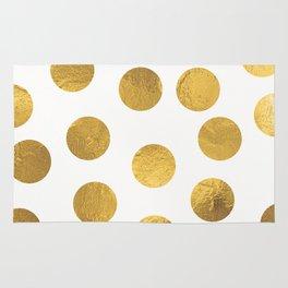 Gold Foil Polka Dots Rug