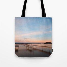 Saratoga Lake Sunset Tote Bag