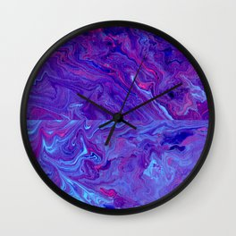 Paint Pouring 30 Wall Clock