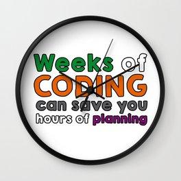 Weeks of coding Wall Clock