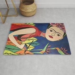 Frida Khalo Painting Rug
