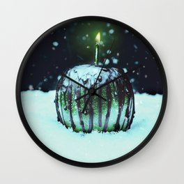 Green Poison Apple Wall Clock