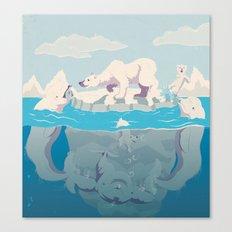 Arctic Playtime! Canvas Print