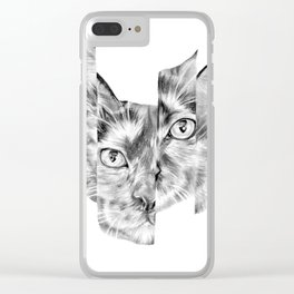 Kitty Split Clear iPhone Case