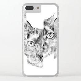 Kitty Split Clear iPhone Case
