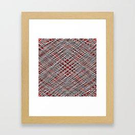 Red Crossed Wires Framed Art Print