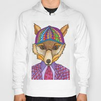 mr fox Hoodies featuring Mr. Fox by tallgirlart