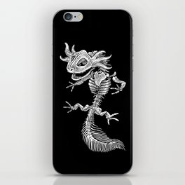 Axolotl Skeleton iPhone Skin