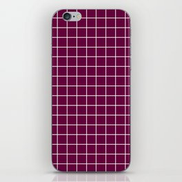 Tyrian purple - purple color - White Lines Grid Pattern iPhone Skin
