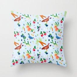 Bountiful Birds Throw Pillow