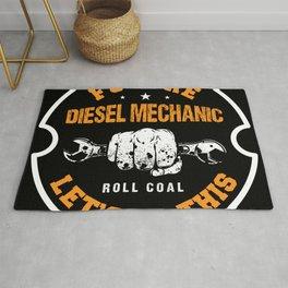 Future Roll Diesel Mechanic Garage Car Rug