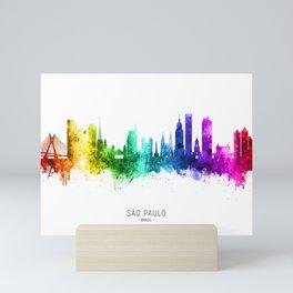 Sao Paulo Skyline Brazil Mini Art Print