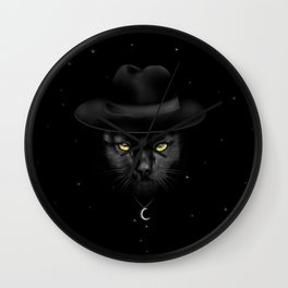 WITCHY CAT Wall Clock