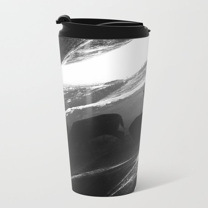 Oh Deer Black Metal Travel Mug