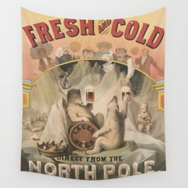 North Pole Fresh and Cold Lager Beer Wall Tapestry