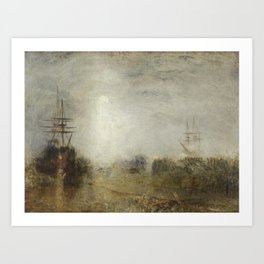 Joseph Mallord William Turner 1775–1851   Whalers (Boiling Blubber) Entangled in Flaw Ice, Endeavour Art Print