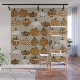 Pumpkin Party in Almond Wall Mural