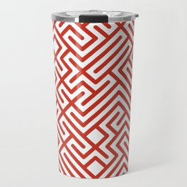 10 Print: Bold Red Travel Mug