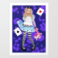 alice in wonderland Art Prints featuring wonderland by Majikal Whispers