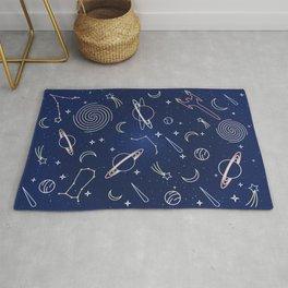Space Line Pattern  Rug