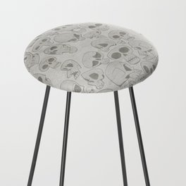 Skulls Pattern Counter Stool