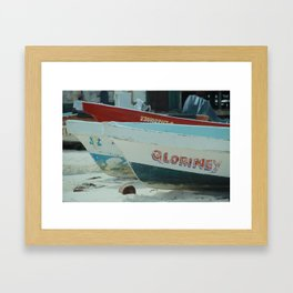 Fishing boat in Mexico Framed Art Print