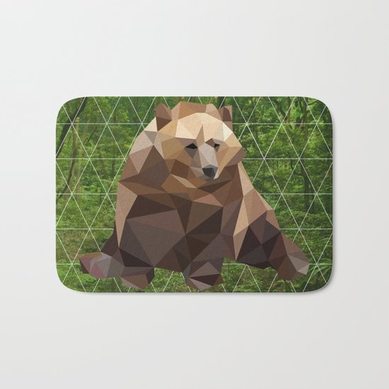 Bear in the woods Bath Mat