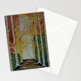 Meet Me By The Birches Stationery Cards