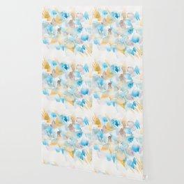 180713 Watercolour Blue Yellow 6 | Watercolor Brush Strokes Wallpaper
