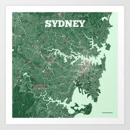 Sydney, Australia street map Art Print