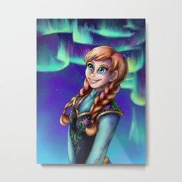 Frozen Lights Metal Print