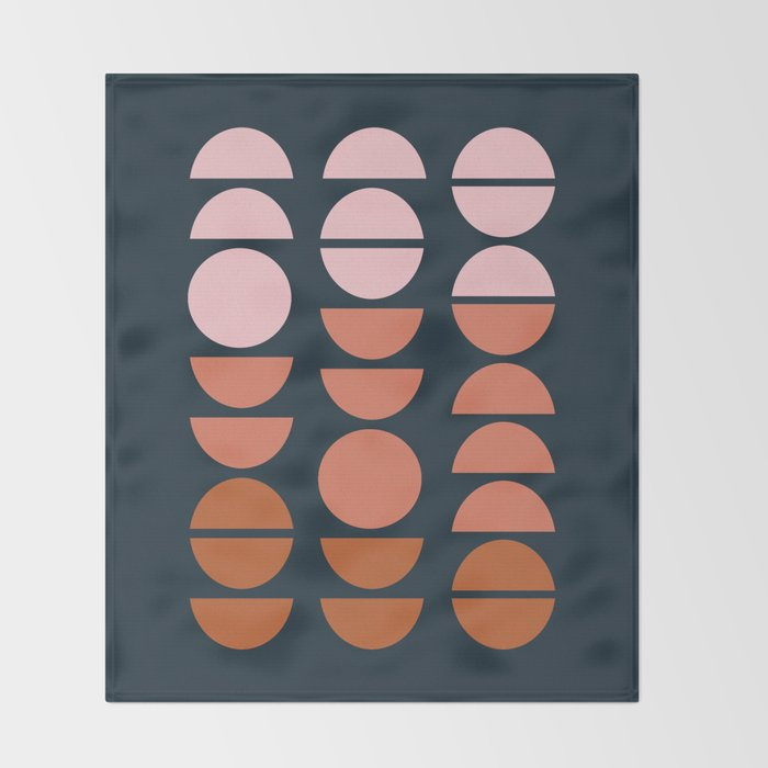 Modern Desert Color Shapes Throw Blanket
