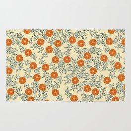 60s Floral Rug