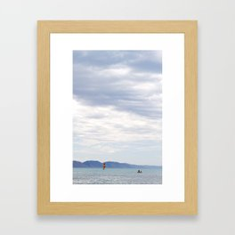bright sail. Framed Art Print