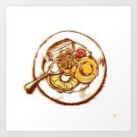 dessert Art Prints featuring Dessert by EGARCIGU