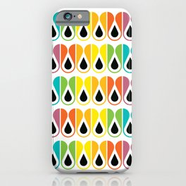 Scandinavian Pattern 120 (colorful loops) iPhone Case