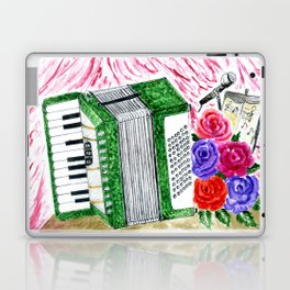 Accordion with roses Laptop & iPad Skin