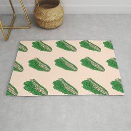 Romaine Lettuce Healthy Food Seamless Pattern Design  Rug