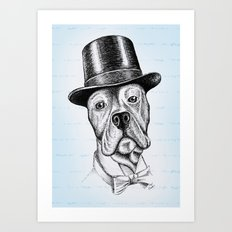 I'm too SASSY for my hat! Vintage Pup. Art Print
